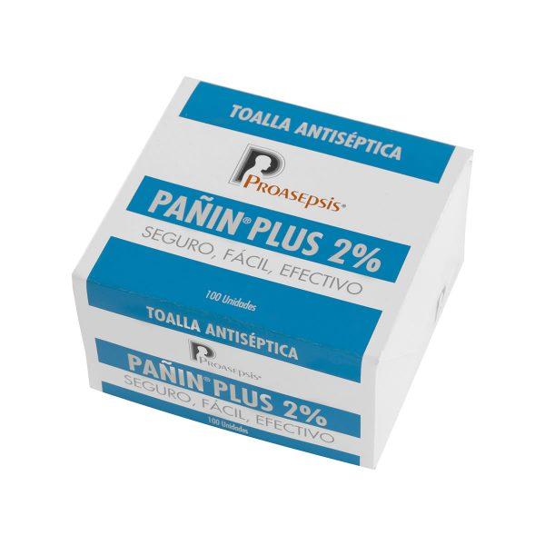 Pañin Plus 2% Toallitas Impregnadas
